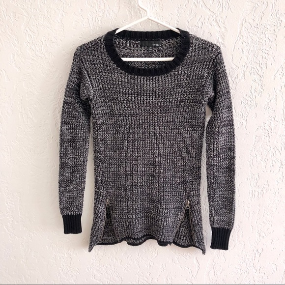 Anthropologie Sweaters - Anthro Kaisely Chunky Knit Zip Detail Sweater XS